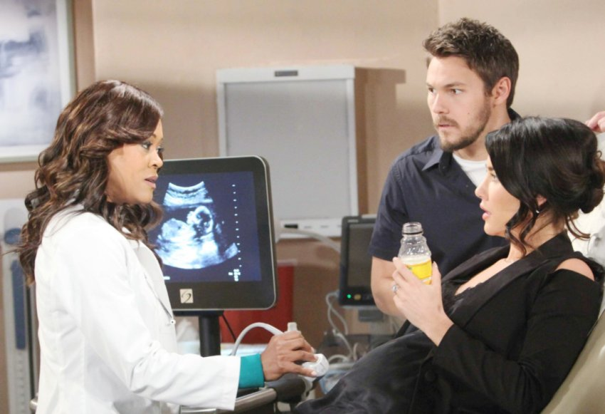 B&B's Scott Clifton and Jacqueline Wood