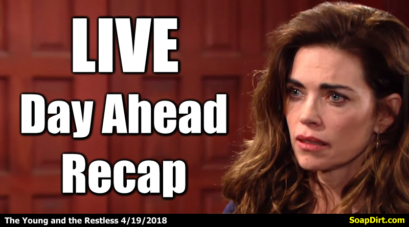 'Young And The Restless' 4/19/2018 Recap - Day Ahead 'Y&R ...