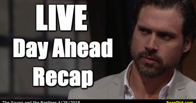 Young and the Restless Live Day Ahead Recap 4/25/2018