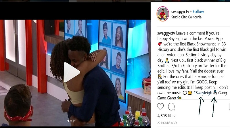 Big Brother 20: Swaggy C and Bayleigh
