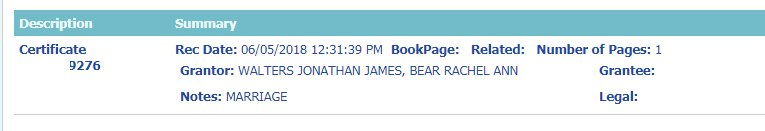 90 Day Fiance Before the 90 Days: Jon Walters - Rachel Bear marriage license