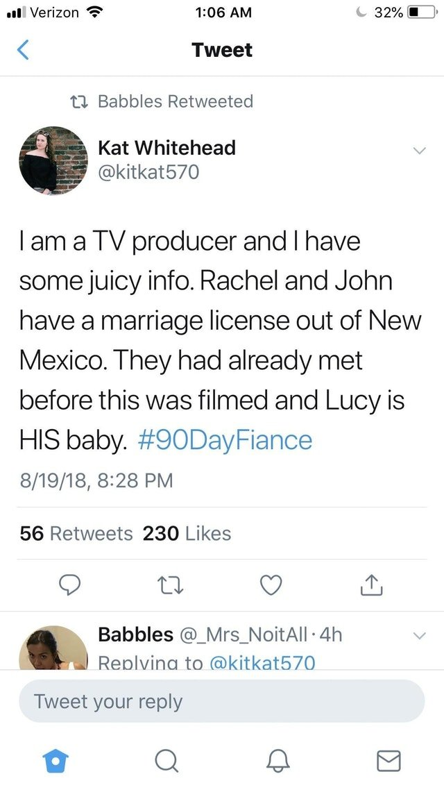 90 Day Fiance Before the 90 Days: Jon Walters father of Lucy Bear?
