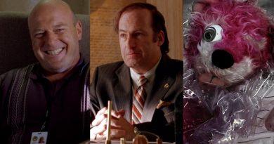 """Better Call Saul"""" James """"Jimmy"""" McGill - Saul Goodman (Bob Odenkirk) - Hank Schrader (Dean Norris) - Pink Teddy Bear - Breaking Bad"""