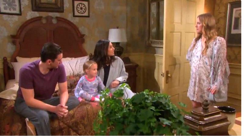 Days of Our Lives -Abigail-DiMera-Marci-Miller- Chad DiMera- Billy Flynn - Gabi Hernandez - Camila Banus