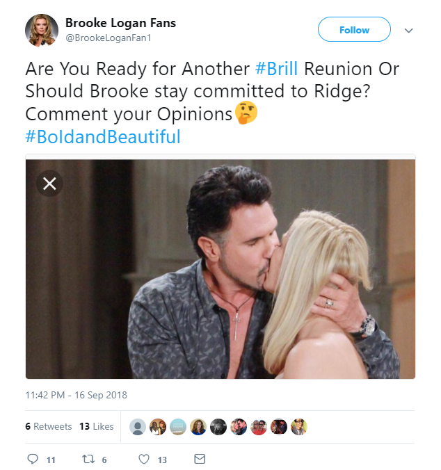 Bold and the Beautiful - Bill Spencer (Don Diamont) and Brooke Logan (Katherine Kelly Lang)