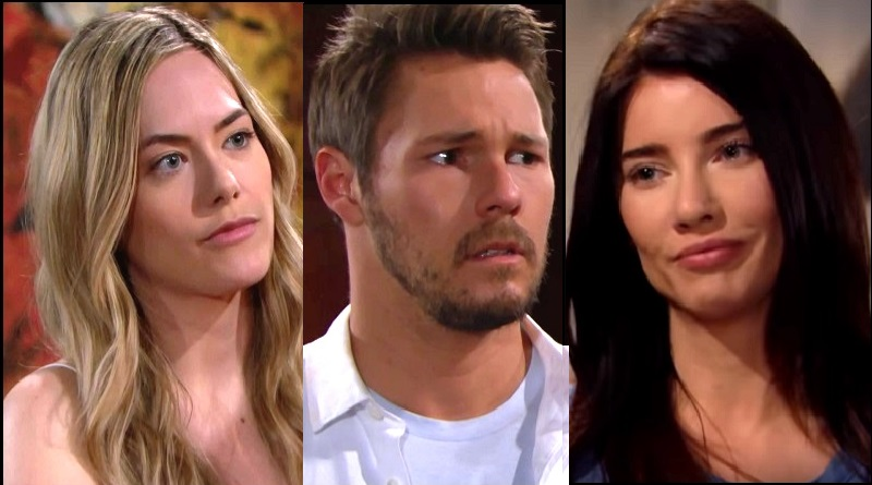 Bold and the Beautiful - Hope Logan (Anikka Noelle) and Liam Spencer (Scott Clifton) Steffy Forrester (Jacqueline MacInnes Wood)