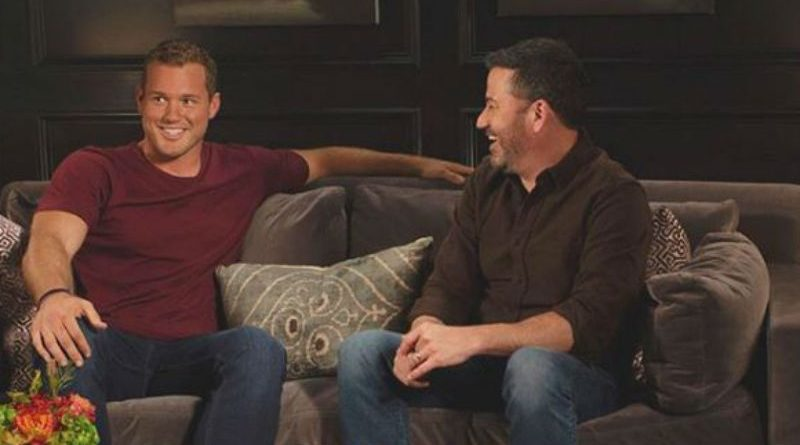 The Bachelor Colton Underwood with Jimmy Kimmell from Instagram