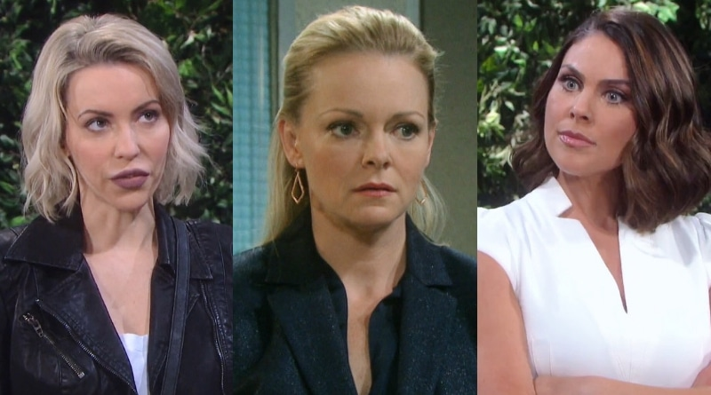 Days of Our Lives Spoilers: Mimi Lockhart (Farah Fath Galfond) - Belle Black (Martha Madison) - Chloe Lane (Nadia Bjorlin)