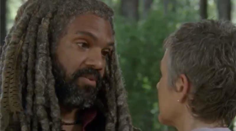 The Walking Dead: King Ezekiel (Khary Payton) Carol Peletier (Melissa McBride)