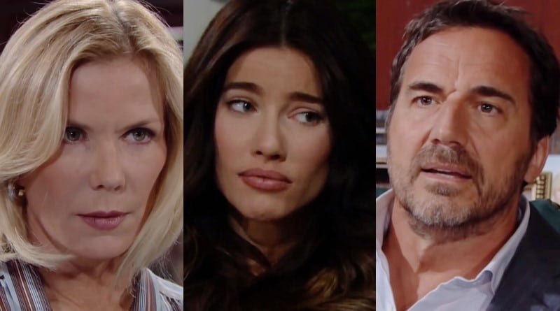 Bold and the Beautiful Spoilers: Brooke Logan (Katherine Kelly Lang) - Steffy Forrester (Jacqueline MacInnes Wood) - Ridge Forrester (Thorsten Kaye)