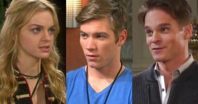 Days of Our Lives: Claire Brady (Olivia Rose Keegan) - Tripp Dalton (Lucas Shaw) - Leo Stark (Greg-Rikaart)