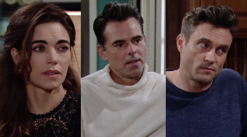 Young and the Restless Spoilers: Victoria Newman (Amelia Heinle) - Billy Abbott (Jason Thompson) - Cane Ashby (Daniel Goddard)