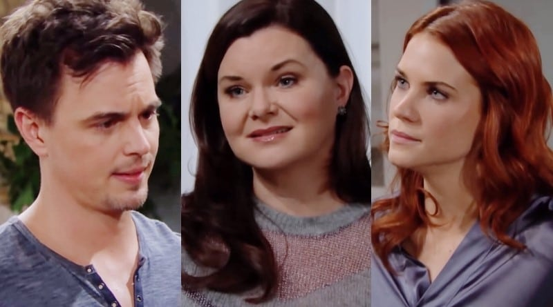 Bold and the Beautiful Spoilers: Wyatt Spencer (Darin Brooks) - Katie Logan (Heather Tom) - Sally Spectra (Courtney Hope)