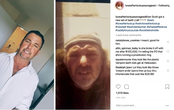 Love After Lockup: Scott Instagram