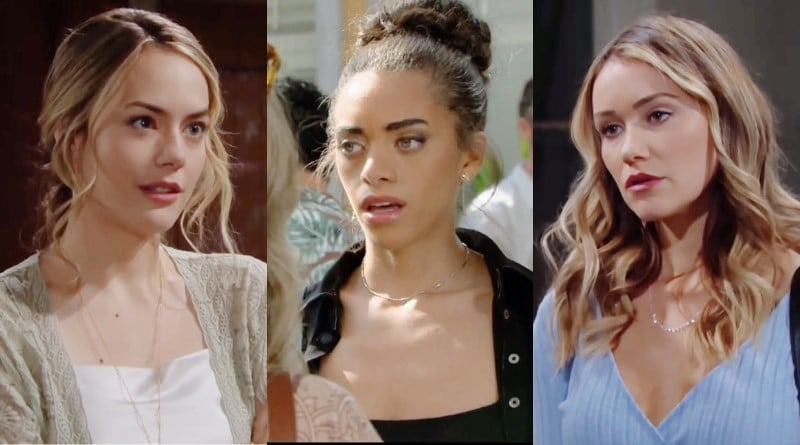 Bold and the Beautiful Spoilers: Hope Logan (Annika Noelle) - Zoe Buckingham (Kiara Barnes) - Flo Fulton (Katrina Bowden)