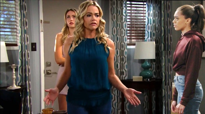 Bold and the Beautiful Spoilers: Flo Fulton (Katrina Bowden) - Shauna Fulton (Denise Richards) - Zoe Buckingham (Kiara Barnes)