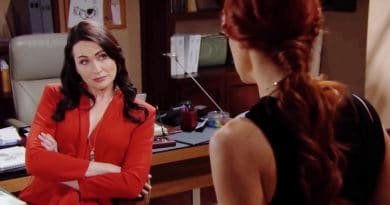 Bold and the Beautiful Spoilers: Quinn Fuller (Rena Sofer) - Sally Spectra (Courtney Hope)