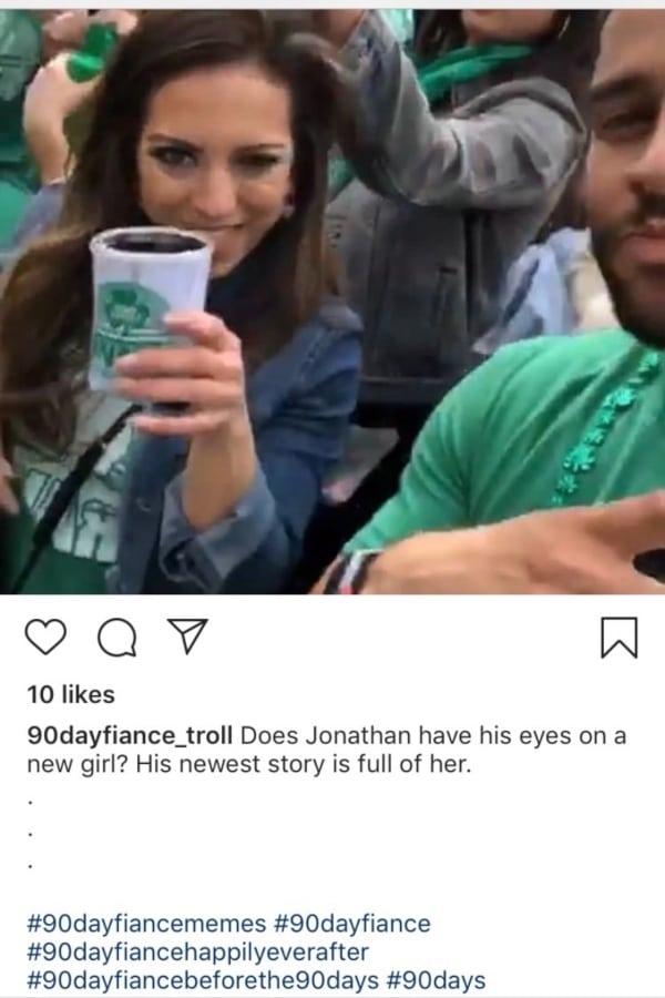 90 Day Fiance: Jonathan Rivera - Sunni Haralalka Instagram