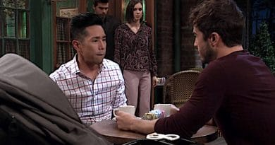 General Hospital Spoilers: Lucas Jones (Ryan Carnes) - Brad Cooper (Parry Shen) - Willow Tait (Katelyn MacMullen) - Harrison Chase (Josh Swickard)