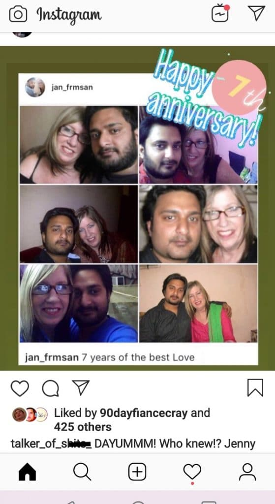 90 Day Fiance: Jenny Slatten - Sumit - The Other Way - Instagram