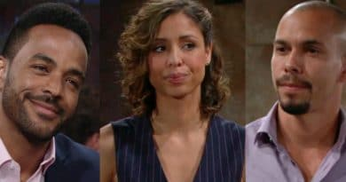 Young and the Restless: Nate Hastings (Sean Dominic) - Elena Dawson (Brytni Sarpy) - Devon Hamilton (Bryton James)