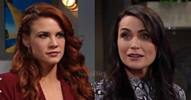 Bold and the Beautiful: Sally Spectra (Courtney Hope) - Quinn Fuller (Rena Sofer)