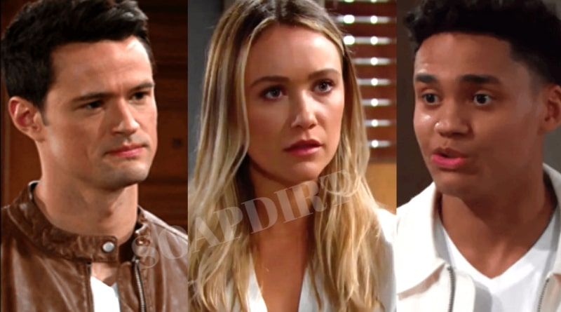 Bold and the Beautiful: Thomas Forrester (Matthew Atkinson) - Flo Fulton (Katrina Bowden) - Xander Avant (Adain Bradley)
