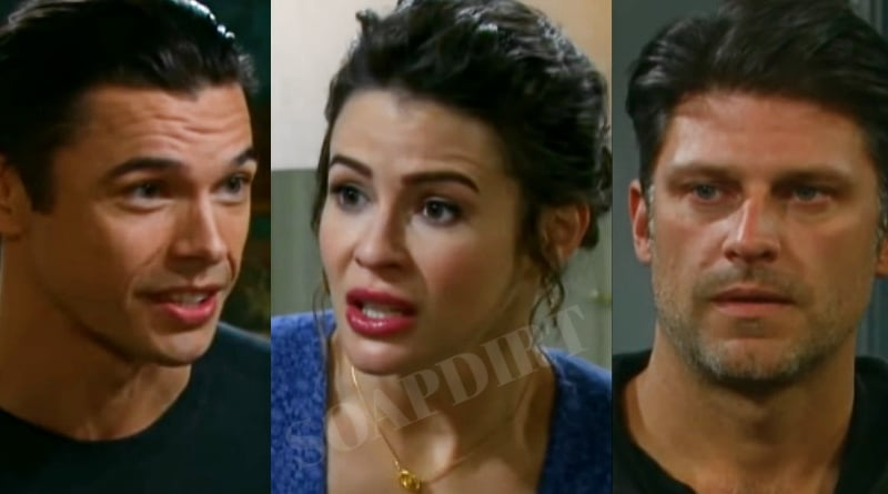 Days of Our Lives: Xander Cook (Paul Telfer) - Sarah Horton (Linsey Godfrey) - Eric Brady (Greg Vaughan)