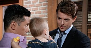 General Hospital Spoilers: Brad Cooper (Parry Shen) - Michael Corinthos (Chad Duell) - Baby Wiley Cooper Jones