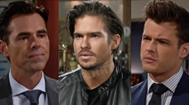 Young and the Restless Spoilers: Billy Abbott (Jason Thompson) - Theo Vanderway (Tyler Johnson) - Kyle Abbott (Michael Mealor)