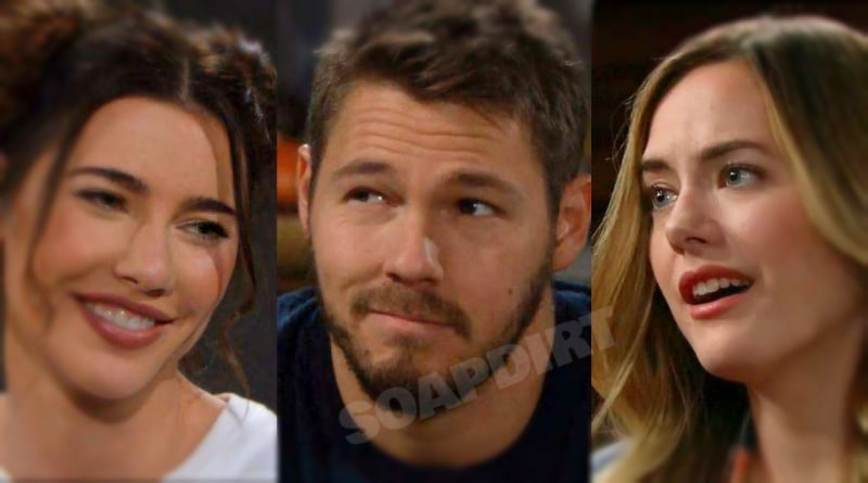 Bold and the Beautiful: Steffy Forrester (JJacqueline MacInnes Wood) - Liam Spencer (Scott Clifton) - Hope Logan (Annika Noelle)