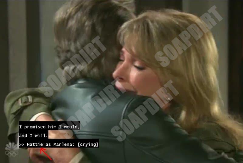 Days of Our Lives Spoilers: Stefano DiMera - Steve Johnson (Stephen Nichols) - Hattie Adams - Marlena Evans (Diedre Hall)