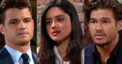 Young and the Restless: Kyle Abbott (Michael Mealor) - Lola Rosales (Sasha Calle) - Theo Vanderway (Tyler Johnson)