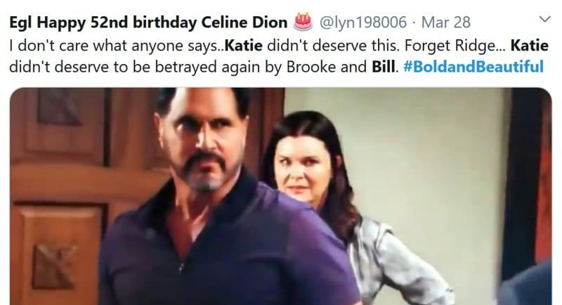 Bold and the Beautiful: Katie Logan (Heather Tom) - Bill Spencer (Don Diamont)