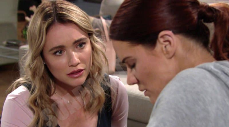 Bold and the Beautiful Spoilers: Flo Fulton (Katrina Bowden) - Sally Spectra (Courtney Hope)
