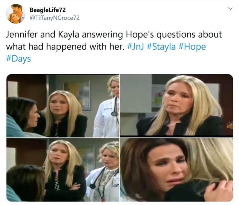 Days of Our Lives Spoilers: Jennifer Horton (Melissa Reeves) - Kayla Brady (Mary Beth Evans) - Hope Brady (Kristian Alfonso)