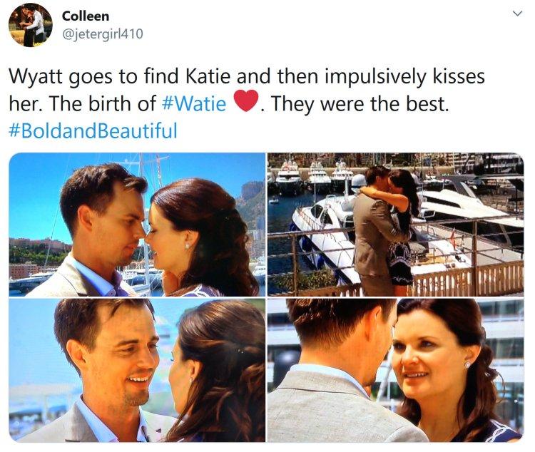 Bold and the Beautiful: Wyatt Spencer (Darin Brooks) - Katie Logan (Heather Tom)
