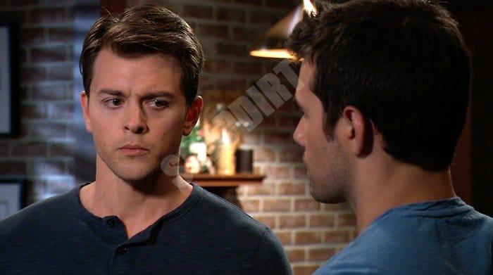 General Hospital Spoilers: Michael Corinthos (Chad Duell) - Harrison Chase (Josh Swickard)