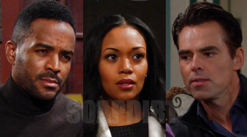 Young and the Restless: Amanda Sinclair (Mishael Morgan) - Billy Abbott (Jason Thompson) - Nate Hastings (Sean Dominic)