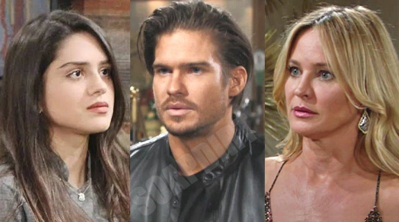 Young and the Restless: Theo Vanderway (Tyler Johnson) - Lola Rosales (Sasha Calle) - Sharon Newman (Sharon Case)