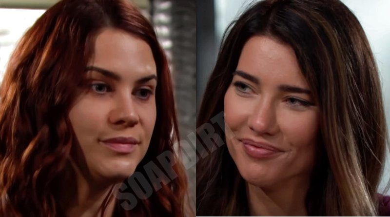 Bold and the Beautiful Spoilers: Sally Spectra (Courtney Hope) - Steffy Forrester (Jacqueline MacInnes Wood)