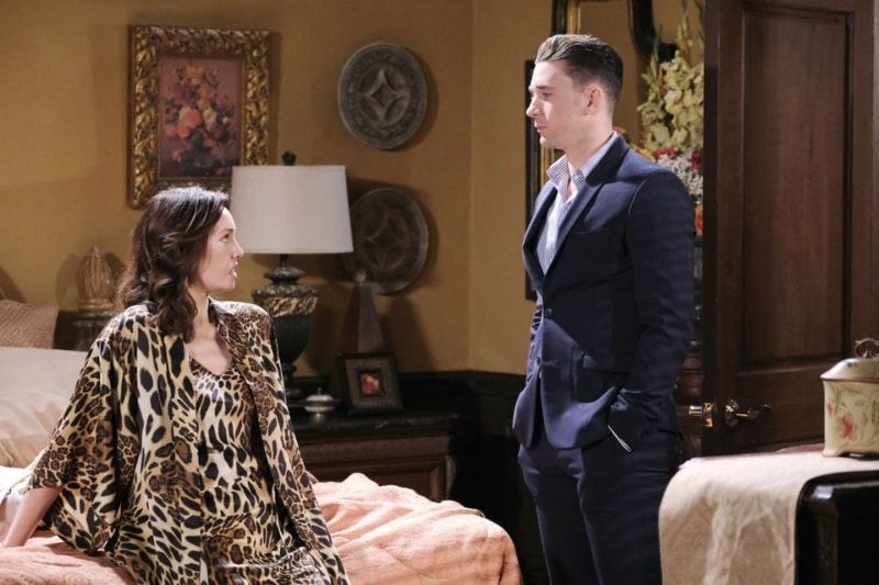 Days of our Lives Spoilers: Gwen Rizczech (Emily O'Brien) - Chad DiMera (Billy Flynn)