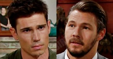 "Bold and the Beautiful: Liam Spencer (Scott Clifton) - John Finnegan ""Finn"" (Tanner Novlan)"