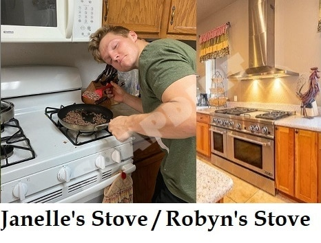 Sister Wives: Janelle Brown Stove - Robyn Brown Stove - Garrison Brown Cooking