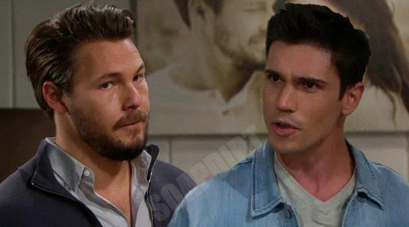 "Bold and the Beautiful: Liam Spencer (Scott Clifton) - John Finnegan ""Finn"" (Tanner Novlan)"