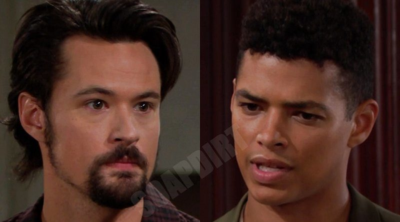 Bold and the Beautiful Spoilers: Thomas Forrester (Matthew Atkinson) - Zende Forrester (Delon de Metz)