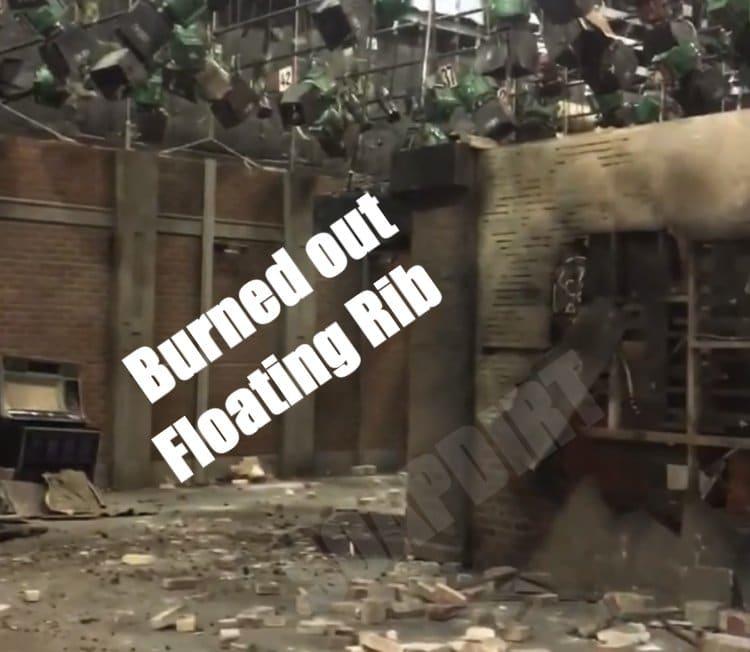 General Hospital Floating Rib burned