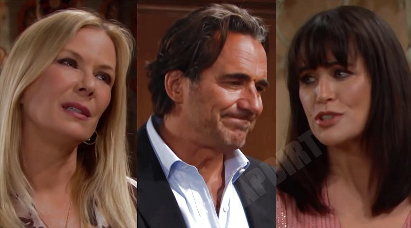 Bold and the Beautiful Spoilers: Ridge Forrester (Thorsten Kaye) - Quinn Fuller (Rena Sofer) - Brooke Logan (Katherine Kelly Lang)
